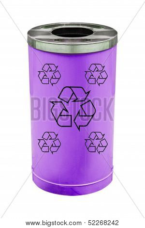 recycle purple bin