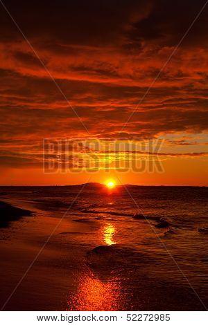Beautiful Sunrise Above The Ocean