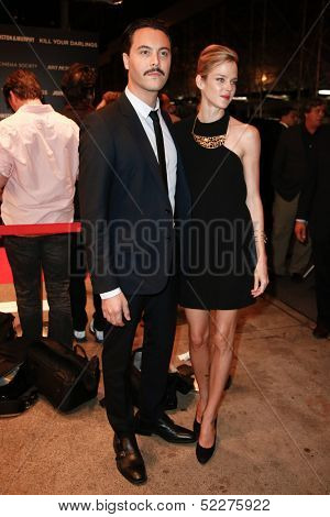 NEW YORK-SEP 30: Actor Jack Huston (L) and model Shannan Click attend a screening of