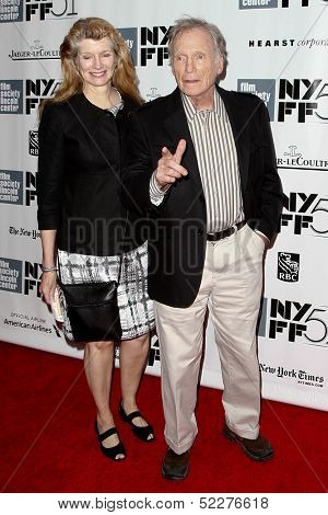 NEW YORK- OCT 8: Former talk show host Dick Cavett and author Martha Rogers attend the premiere of