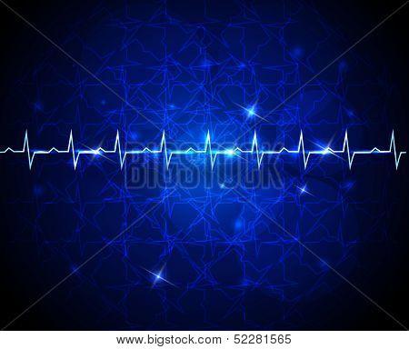 Cardiogram, heart beats