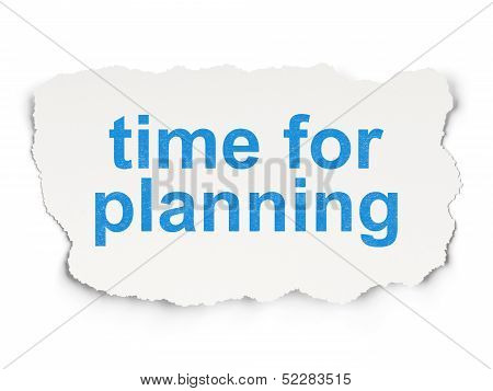 Time concept: Time for Planning on Paper background