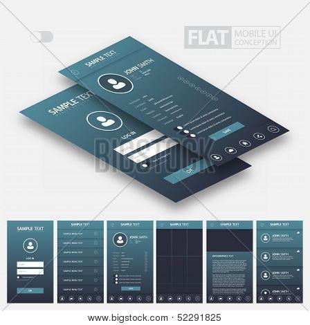 Flat Mobile Web UI Concept
