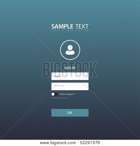 Flat Login Template Background