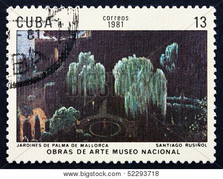 Postage Stamp Cuba 1981 Gardens, Palma De Mallorca