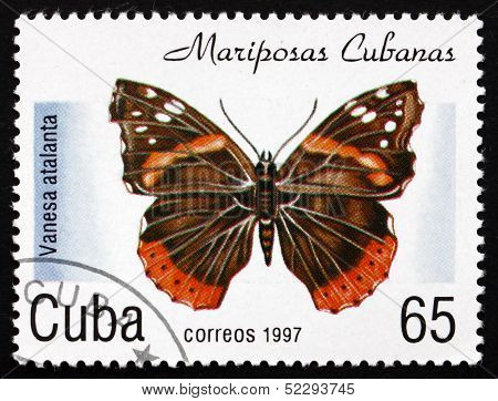Postage Stamp Cuba 1997 Red Admiral, Butterfly
