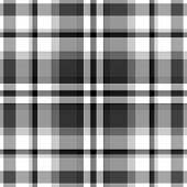 stock photo of tartan plaid  - Black and white plaid patterns - JPG