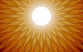 stock photo of atonement  - Gold and yellow light rays spread out when the sun rises - JPG