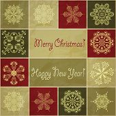 picture of std  - vector seamless christmas winter pattern with snowflakes  - JPG
