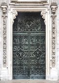 Door Detail From The Duomo In  Milan, Italy