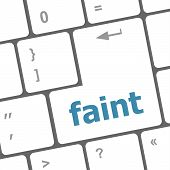 Faint Word On Keyboard Key,