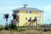 pic of beach-house  - new beach home construction photographed on the coast of Florida