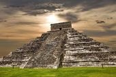 picture of pyramid  - Ancient Mayan pyramid - JPG