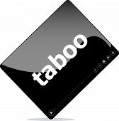 stock photo of taboo  - Social media concept - JPG