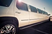 stock photo of windows doors  - Stretch limo - JPG