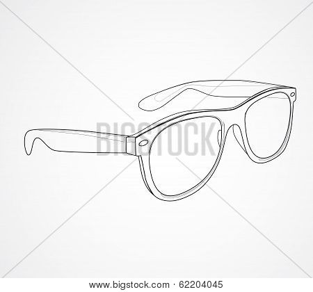 Sunglasses isolated vector illustration