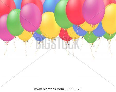 Ballons vector card