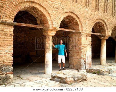 Tourist Exploring Ohrid Macedonia