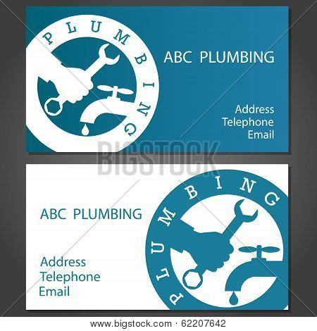 Business cards for plumbers