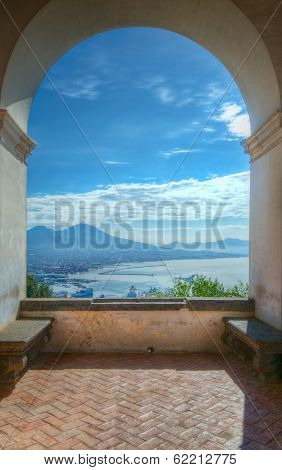 Mount Vesuvius And Gulf Of Naples, Italy