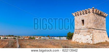 Medieval Watchtower At Kiti. Larnaca