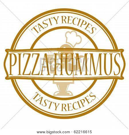 Pizza and hummus