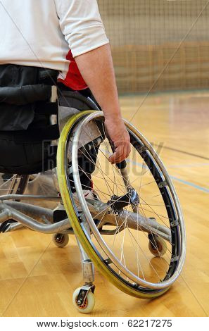 Sportsman In A Sport Wheelchair
