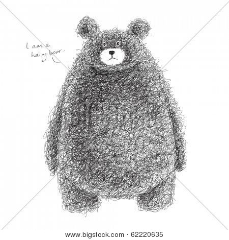 Vector Hairy Bear