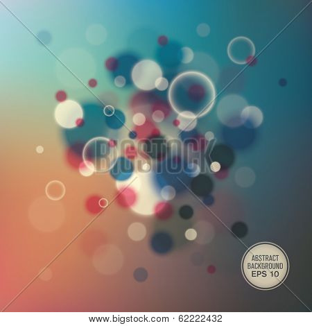 Abstraction with bubbles. Vector illustration.