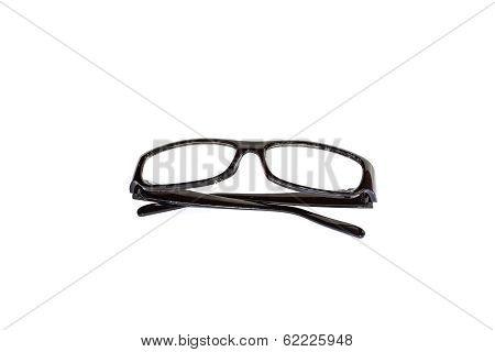 Black Eyeglasses Isolated On White Background