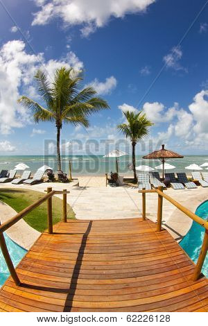 Sunny day at Arraial d'Ajuda Eco Resort in Bahia - Brazil.