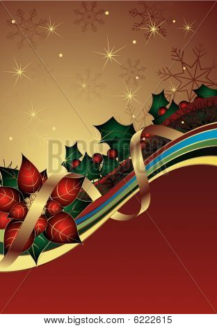 Christmas Abstract Curve Background
