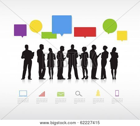 Business Social Networking Vector