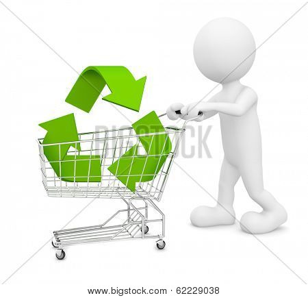 Green Shopping with Recycling Symbol