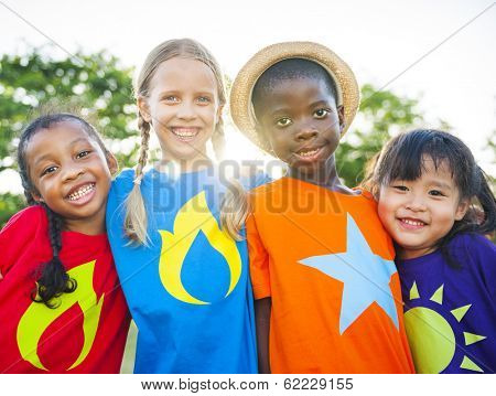 Superhero Multi-ethnic World Children