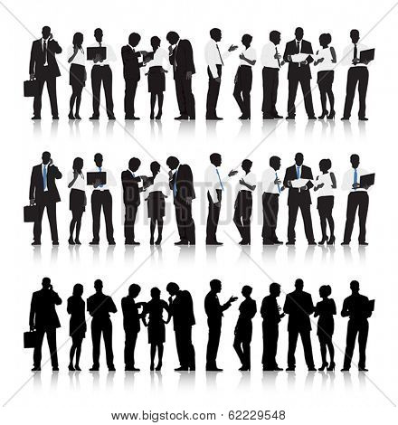Vector of Multi-ethnic Business People Silhouettes