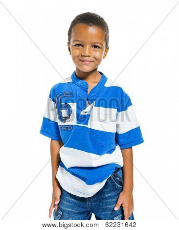 Young MIxed Race Boy Smiling