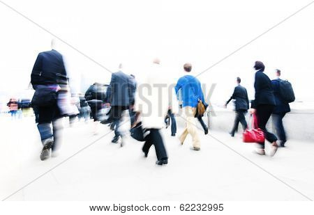 People Rushing in City Life, London