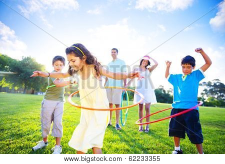 Family Playing in a Park