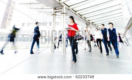People Rushing in Hong Kong