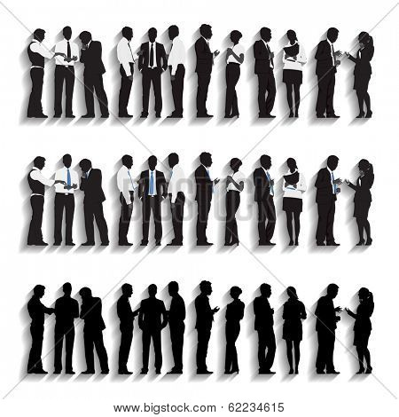 Vector of Business People Silhouette