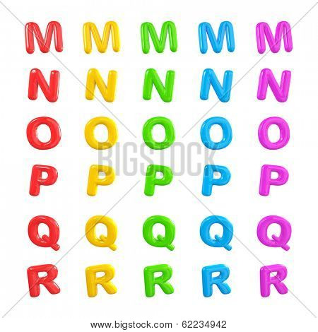 Colorful Alphabet 3D Ballons M-R