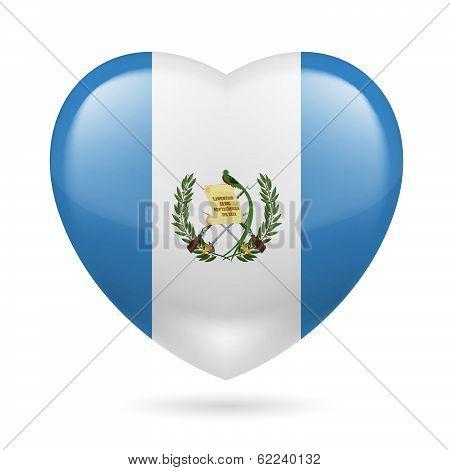 Heart icon of Guatemala