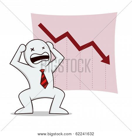Businessman stress bankruptcy