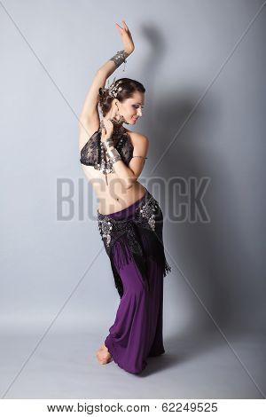 young beautyful tribal dancer