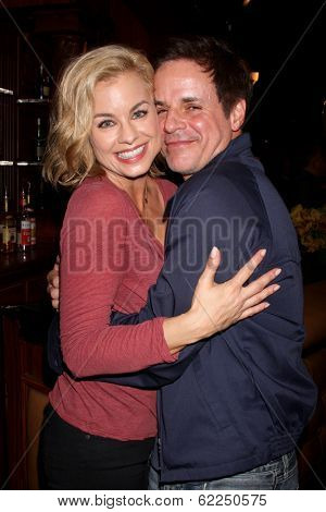 LOS ANGELES - MAR 25:  Jessica Collins, Christian LeBlanc at the Young and Restless 41st Anniversary Cake at CBS Television City on March 25, 2014 in Los Angeles, CA