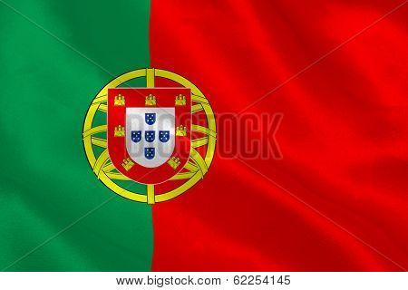 Portugese flag rippling