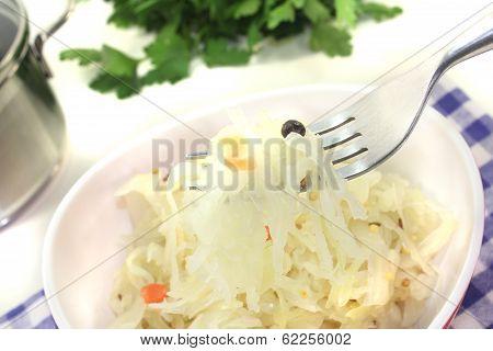 Sauerkraut On A Fork