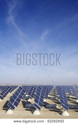 solar station in Zuera, Saragossa, Aragon, Spain