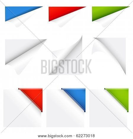 Color Collection Corners, With Gradient Mesh, Vector Illustration